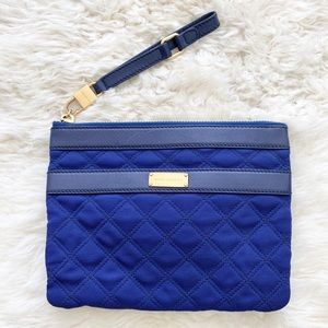 MARC JACOBS Blue Quilted Clutch Wristlet